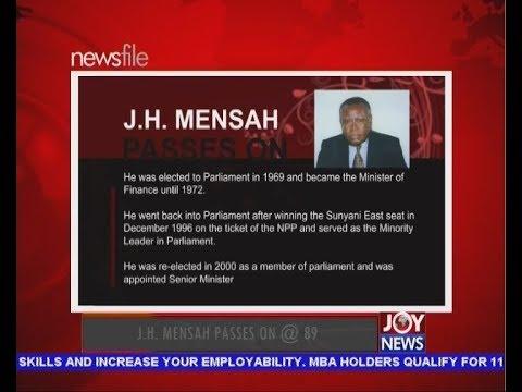J.H. Mensah Passes On @ 89 - Newsfile On JoyNews (14-7-18)