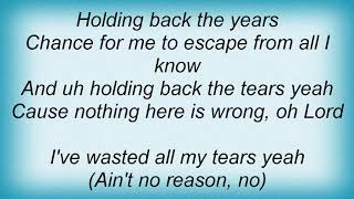 Angie Stone - Holding Back The Years Lyrics