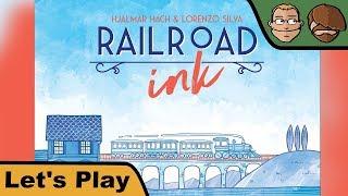 Railroad Ink: Deep Blue Edition - Brettspiel - Let's Play