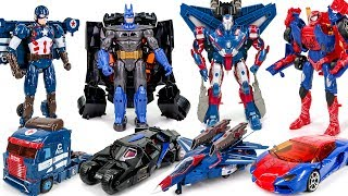 Ko Transformers Batman Lockdown Spider Man Jetfire Iron Man Galbatron Captain america Car Robot Toys