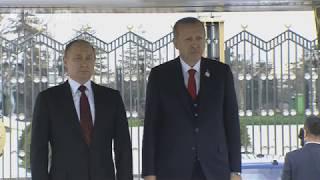 Приветственная церемония для Путина в Анкаре