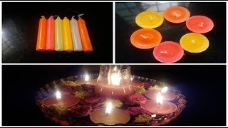 Mounicas VLOG || DIY Floating Candles|| Tutorial