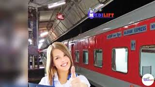 Reasonable Cost Train Ambulance from Patna to Mumbai by Medilift