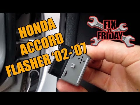 How to change Honda Accord Turn Signal/Flasher/Blinker  Relay Replacement 2002-2007