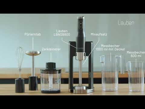 Lauben LBNSB800 | Handmixer mit umfangreichem Zubehör