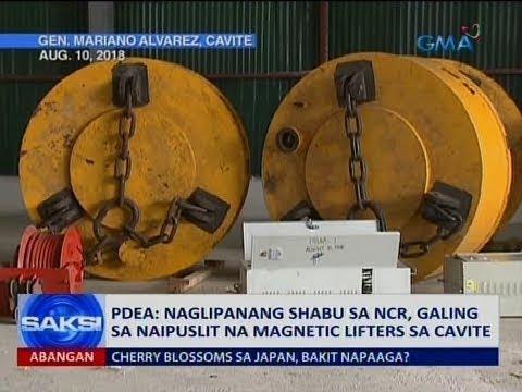 [GMA]  Saksi: PDEA: Naglipanang shabu sa NCR, galing sa naipuslit na magnetic lifters sa Cavite