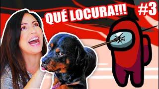 Jugando AMONG US Pierdo La Voz y me CAIGO con mi Perro! 😅 Que LOCURA!!! 😂 Sandra Cires Play