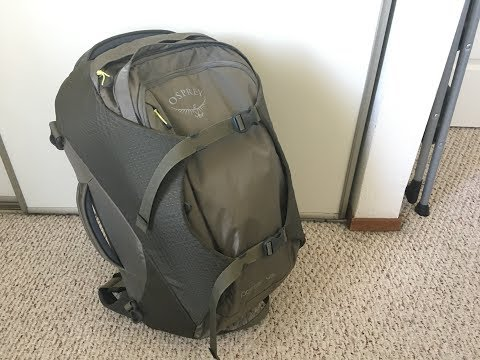 Osprey Porter 46 (2018 model) travel backpack review