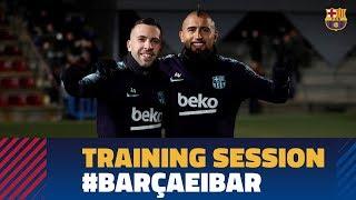 BARÇA 3-0 EIBAR | Last training session before the match