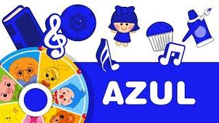 Color AZUL   Aprender Colores con Plim Plim   A Jugar