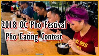 Pho Eating Contest at the First OC Pho Festival in Fountain Valley | #RainaisCrazy