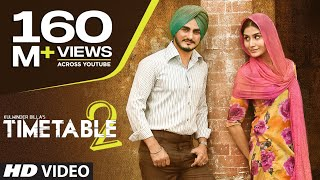 Kulwinder Billa Time Table 2 (ਟਾਈਮ ਟੇਬਲ 2) Mp3 | Latest Punjabi Song 2015