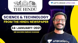 Science and Technology from The Hindu Newspaper | 24-January-2021 | Crack UPSC CSE/IAS | Sachin Sir
