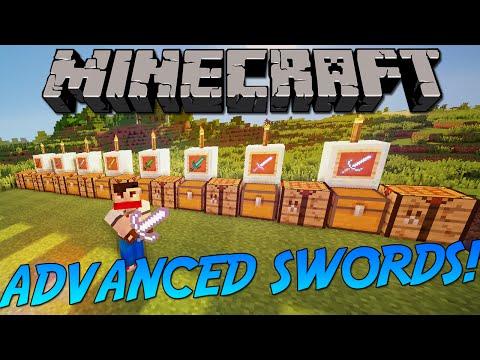 ADVANCED SWORDS MOD! | Minecraft Mod Showcase!