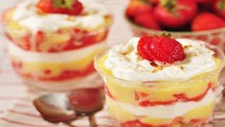 Strawberry & Lemon Curd Trifle Recipe Demonstration – Joyofbaking.com