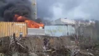 Пожар на строительной площадке
