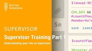 Supervisor Training Series: Video 1: Understanding your role as Supervisor
