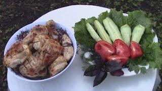 Простой и  очень вкусный рецепт Шашлыка из Курицы в классическом маринаде.Просто и вкусно.