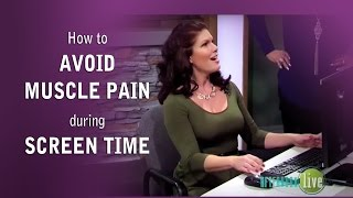 How to Save Your Posture During Screentime (This helps with back pain!)