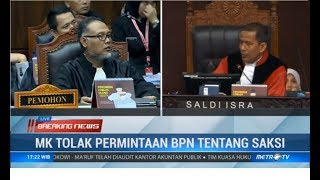 Debat Panas! MK Patahkan Dalil BW Soal Nyawa Saksi Tim Prabowo