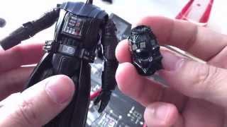Bandai Darth Vader model kit status update [sticker/decal application]