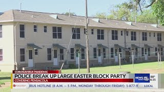 Police Break Up Large Easter Block Party