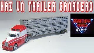 Trailer Ganadero con Big Rig Hot Wheels