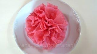 servietten falten rose blume z b f r ostern hochzeit vidinfo. Black Bedroom Furniture Sets. Home Design Ideas