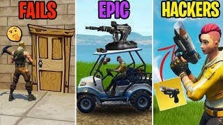 BIGGEST Noob in Fortnite! FAILS vs EPIC vs HACKERS! Fortnite Funny Moments 279 (Battle Royale)