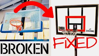 How To Repair A Broken Basketball Backboard (Plexiglas) For UNDER $20