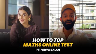 BYN : How To Top Maths Online Test Feat. Vidya Balan