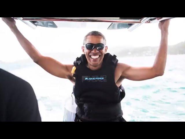 sportourism.id - Seusai-Tugas-Sebagai-Presiden-Barack-Obama-Asik-Berlibur-dan-Bermain-Kitesurfing