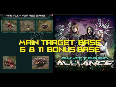 War Commander : Shattered Alliance [Hunt The Red Baron] Base 5,8,11 & Bonus