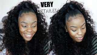 Half Up Half Down Quickweave  No Leave Out Protective Style  Ft. Klaiyi Hair