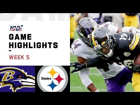 Ravens vs. Steelers Week 5 Highlights | NFL 2019
