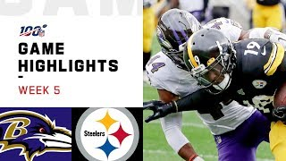 Ravens vs. Steelers Week 5 Highlights | NFL 2019