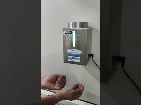 1 Litre Automatic Hand Sanitizer Dispenser, (Stainless Steel Body)