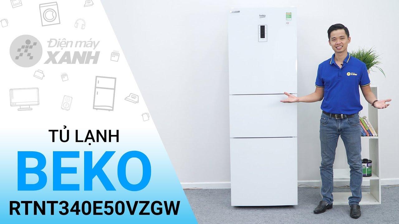 Tủ lạnh Beko 340 lít RTNT340E50VZGW - Lạnh như băng trắng như tuyết