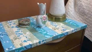 How To Easily Refinish An End Table | At Home With P. Allen Smith