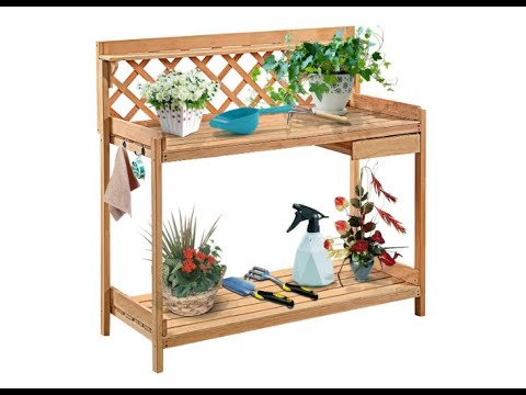 Giantex Potting Bench Garden Potting Benches Outdoor Planting and Gardening Work Station - Overview