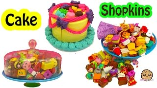Barbie Orders A Playdoh Cake And Gets Shopkins Surprise Cake with Season 5 Blind Bags