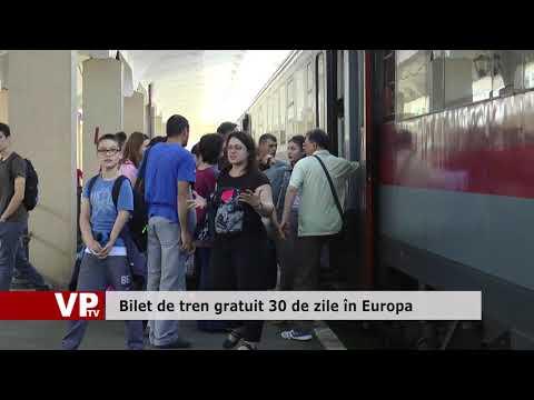 Bilet de tren gratuit 30 de zile în Europa