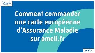 Comment Commander Une Carte Européenne D'Assurance Maladie Sur Ameli.fr #CEAM