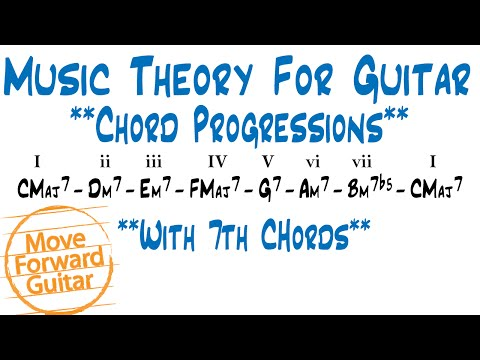 Music Theory For Guitar - Chord Progressions 7th Chords