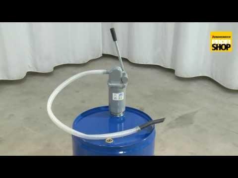 Hebelzylinderpumpe mit Antitropfmundstück, 0,4 Liter je Hub