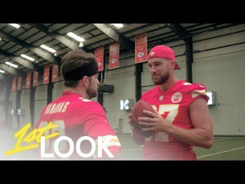 Travis Kelce Shows Johnny Bananas Why He's The Best Tight End in Football | 1st Look TV