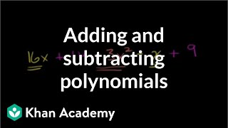 Adding and Subtracting Polynomials 2