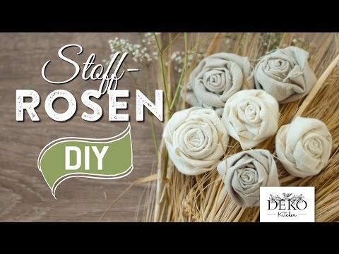 DIY: Deko-Rosen aus Stoff im Shabby Chic Stil   Deko Kitchen
