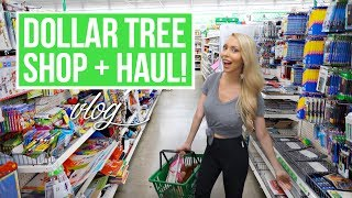HUGE DOLLAR TREE SHOP WITH ME + HAUL!