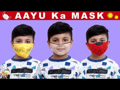 AAYU KA MASK   Make your own mask at home #DIY   Aayu and Pihu Show